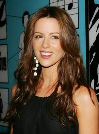 Kate Beckinsale at the MTV's Total Request Live.