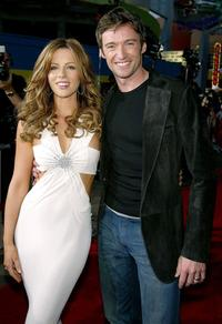 Kate Beckinsale and Hugh Jackman at the California premiere of