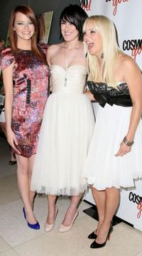 Emma Stone, Rumer Willis and Anna Faris at the screening of