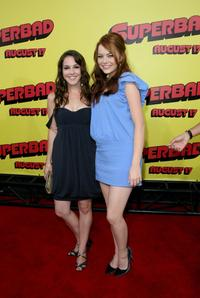 Martha MacIsaac and Emma Stone at the premiere of
