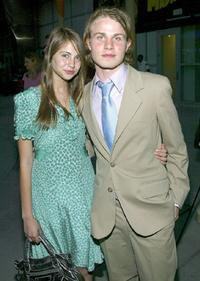 Willa Holland and Brady Corbet at the premiere of