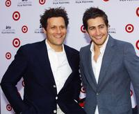 Isaac Mizrahi and Jake Gyllenhaal at the premiere of