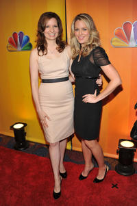 Lennon Parham and Jessica St. Clair at the 2011 NBC Upfront in New York
