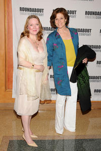 Kristine Nielsen and Sigourney Weaver at the after party of the opening night of