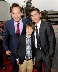 Burr Steers, Charlie Tahan and Zac Efron at the California premiere of