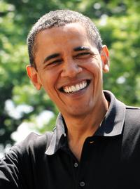 Barack Obama at the South Lawn in White House.