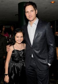 Bailee Madison and Peter Facinelli at the Lionsgate Golden Globe Party.