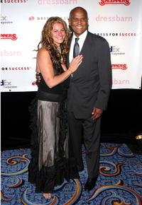 Harry Belafonte and Josee Nadeau at the Dress For Success 'April In Paris' annual gala.
