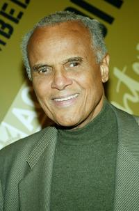 Harry Belafonte at the Off-Broadway opening night of