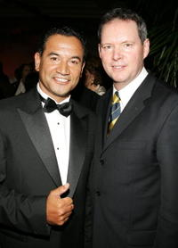 Temuera Morrison and Rob Taylor at the 5th Annual Celebration of New Zealand Filmmaking and Creative Talent.