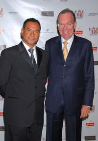 Temuera Morrison and Roy Ferguson at the Sixth Annual Celebration of New Zealand Filmmaking and Creative Talent Pre-Oscar dinner.