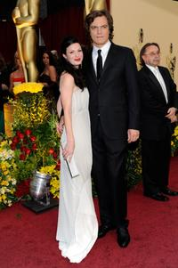 Kate Arrington and Michael Shannon at the 81st Annual Academy Awards.