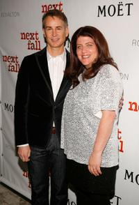 Geoffrey Nauffts and Sheryl Kaller at the after party of the VIP performance of