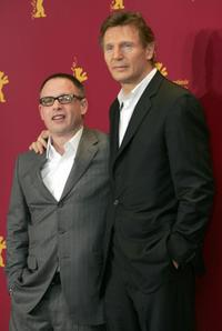 Liam Neeson and Billy Condon pose at the photocall of