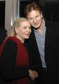 Liam Neeson and Lauren Bacall at the Cinema Society after party for