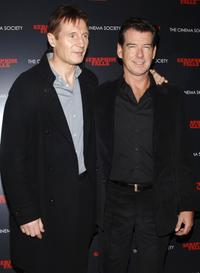 Liam Neeson and Pierce Brosnan at the special screening of
