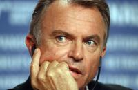 Sam Neill takes at press conference for the film