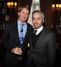 Tom Hooper and Iain Canning at the luncheon to honor