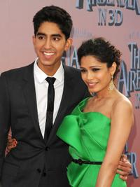 Dev Patel and Freida Pinto at the premiere of