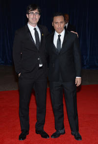 John Oliver and Aasif Mandvi at the 2013 White House Correspondents Association Dinner.