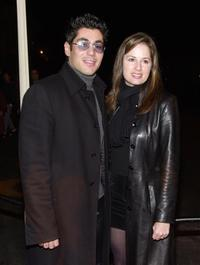 Danny Nucci and Paula Marshall at the 35th Anniversary of Golds Gym.