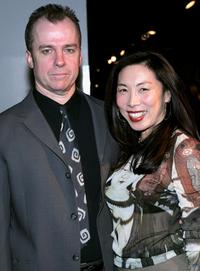 Michael O'Keefe and Jodi Long at the opening night of