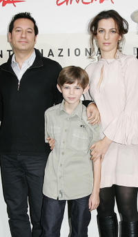 Jeremy Podeswa, Robbie Kay and Ayelet Zurer at the photocall of