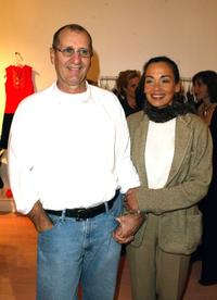 Ed O'Neill and his wife Cathy Rusoff at the opening party of the Nanette Lepore boutique.