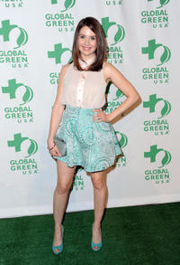 Alison Brie at the Global Green USA's 9th Annual Pre-Oscar party in California.