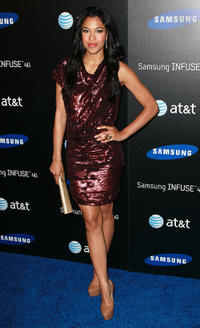 Kali Hawk at the Samsung Infuse 4G launch event in California.