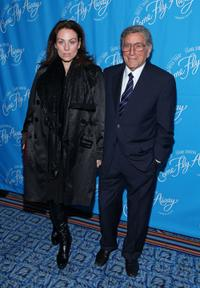 Joanna Bennett and Tony Bennett at the Broadway opening of
