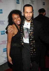 Lindsey Sinnih and Antone Pagan at the premiere of