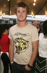 Chris Hemsworth at the Channel Seven Christmas drinks party.