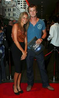 Chris Hemsworth and Guest at the opening night of Matthew Bourne's Swan Lake.