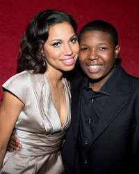 Jurnee Smollett and Denzel Whitaker at the premiere of