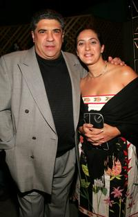 Vincent Pastore and his wife at the premiere of