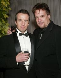 Grant Shaud and Robert Pastorelli at the cocktail party of