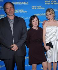 Will Patton, Kelly Reichardt and Michelle Williams at the premiere of