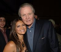 Nia Peeples and Jon Voight at the after party following a special VIP screening of