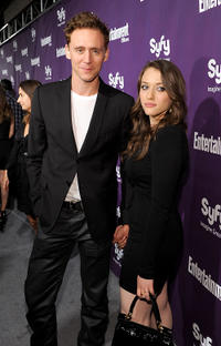 Tom Hiddleston and Kat Dennings at the EW and SyFy party during Comic-Con 2010.