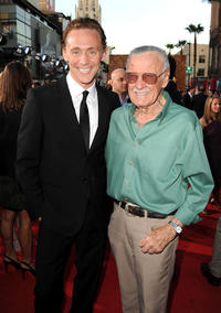 Tom Hiddleston and Stan Lee at the California  premiere of
