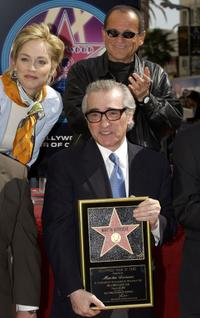 Joe Pesci, Director Martin Scorsese and Sharon Stone at the ceremony honoring Scorsese with a star on the Hollywood Walk of Fame.
