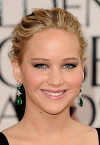 Jennifer Lawrence at the 68th Annual Golden Globe Awards in California.