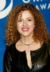Bernadette Peters at the 45th Annual Grammy Awards.