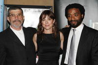 David Mamet, Rebecca Pidgeon and Chiwetel Ejiofor at the special screening of