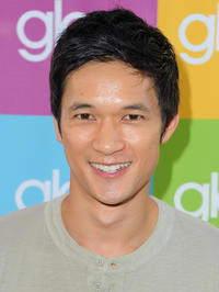 Harry Shum, Jr. at the Sing-A-Long event for