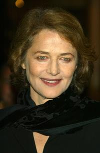 Charlotte Rampling at the opening ceremony of the 15th Dinard Festival.