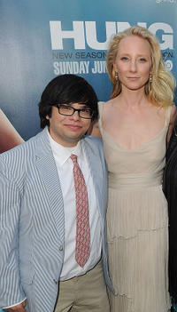 Charlie Saxton and Anne Heche at the California premiere of