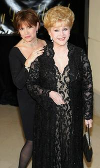 Debbie Reynolds and Carrie Fisher at the Dame Elizabeth Taylor's 75th birthday party.