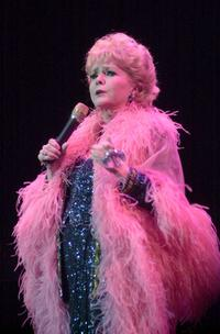 Debbie Reynolds at the concert for the Salvation Army Nancy Painter Home Benefit.
